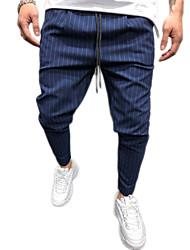 cheap -Men's Active / Basic Harem / Chinos Pants - Solid Colored Black Royal Blue Navy Blue US32 / UK32 / EU40 US34 / UK34 / EU42 US38 / UK38 / EU46