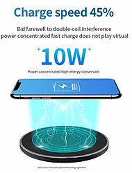 cheap -10W Fast Wireless Charger for Samsung Galaxy S21 Plus S20 Ultra S10 S9 S8 Note 20 10 9 USB Qi Charging Pad for iPhone 12 Pro Max iPhone 12Mini 11Pro SE2020 XS Max XR X 8 Plus