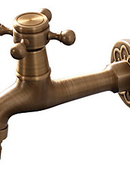cheap -Bathroom Sink Faucet - Widespread Antique Free Standing Single Handle One HoleBath Taps