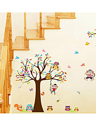 cheap -XL8192 Cartoon Owl Big Tree Animal Party Children's Room Kindergarten Decoration Removable Stickers 60*90CM