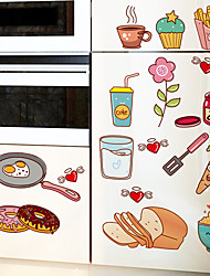 cheap -XH1448C cute cartoon refrigerator kitchen restaurant decorations removable stickers