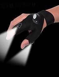 cheap -Fishing Magic Led Gloves Strap Fingerless Glove LED Flashlight Torch Cover Camping Hiking Lights Multipurpose Hand