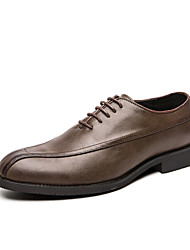 cheap -Men's Formal Shoes Pigskin Winter Oxfords Black / Brown / Party & Evening