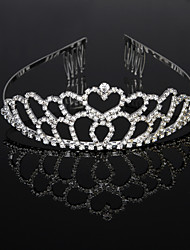 cheap -Cubic Zirconia / Rhinestone / Alloy Tiaras / Headbands / Headdress with Rhinestone / Crystal / Crystals / Rhinestones 1 Piece Wedding / Birthday Headpiece