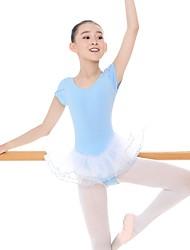cheap -Kids' Dancewear Leotards Girls' Training / Daily Wear Cotton / Spandex Ruching Sleeveless High Leotard / Onesie