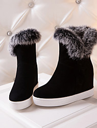 cheap -Women's Boots Snow Boots Hidden Heel Round Toe Suede Mid-Calf Boots Preppy / Minimalism Fall & Winter Black / Gray