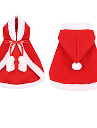 cheap -Dog Cat Hoodie Christmas Christmas Dog Clothes Red Costume Polyester Canvas Mixed Material S M L