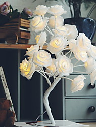cheap -1 set LED Rose Tree Table Lamp Night Light Home Decoration Staycation Warm White Creative 220-240 V