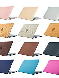 ieftine -carcasă Macbook boabe de lemn / colorat solid / sclipici din plastic strălucire pentru noi macbook pro 15 inch / nou macbook pro 13 inch / new macbook air 13 2018