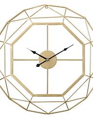 cheap -Modern Minimalist Home Living Room Decorative Wrought Iron Wall Clock Mute Wall Clock Creative Nordic