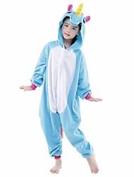 cheap -Kid's Baby Kigurumi Pajamas Unicorn Pony Onesie Pajamas Flannel Toison Purple / Blue / Pink Cosplay For Boys and Girls Animal Sleepwear Cartoon Festival / Holiday Costumes