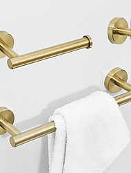 cheap -Bathroom Accessory Set Creative Modern Stainless Steel 3pcs - Bathroom / Hotel bath Wall Mounted
