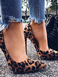 cheap -Women's Heels Stiletto Heel Pointed Toe Suede Business / Vintage Spring &  Fall / Spring & Summer Black / Brown / Almond / Party & Evening / Leopard