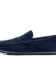 cheap -Men's Moccasin Pigskin Winter Loafers & Slip-Ons Black / Light Yellow / Orange