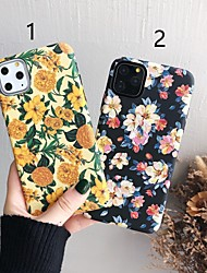 cheap -Case For Apple iPhone 11 / iPhone 11 Pro / iPhone 11 Pro Max Pattern Back Cover Flower Plastic