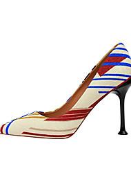 cheap -Women's Heels Stiletto Heel Pointed Toe Synthetics Minimalism Spring & Summer Black / Almond / White / Party & Evening