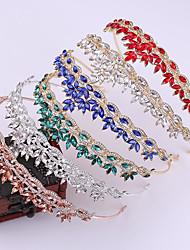 cheap -Alloy Tiaras / Headpiece with Crystal / Crystal / Rhinestone / Metal 1 pc Wedding / Birthday Headpiece