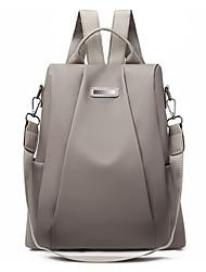 Недорогие -Большая вместимость Оксфорд Молнии рюкзак Сплошной цвет Повседневные Черный / Хаки