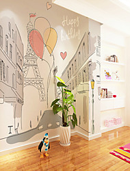 cheap -Wallpaper / Mural / Wall Cloth Canvas Wall Covering - Adhesive required Painting / Art Deco / Cartoon