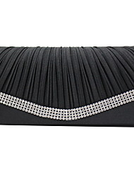 cheap -Women's Satin Evening Bag Solid Color Black / White / Blushing Pink