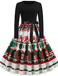cheap -Audrey Hepburn Dress Women's Adults' Christmas Christmas Christmas Polyester Dress