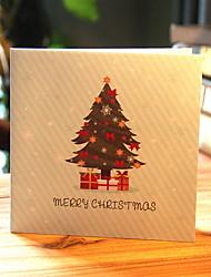 cheap -1 pc 3D Pop Up Christmas Card Paper Gift