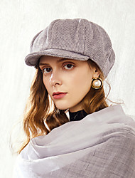 cheap -Wool / Polyester Hats with Ruching 1pc Casual / Daily Wear Headpiece