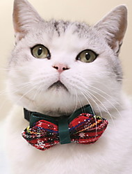 cheap -Dog Hair Bow Tie / Bow Tie Winter Dog Clothes Red Costume Polyster Bowknot Snowflake Cosplay Christmas S M L XL