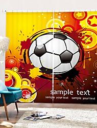 cheap -Painting Style Football Digital Printing 3D Curtain Shading Curtain High Precision Black Silk Fabric High Quality Curtain
