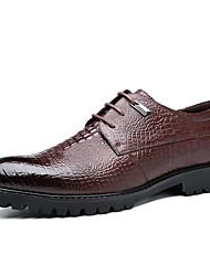 cheap -Men's Formal Shoes Synthetics Fall / Spring & Summer Classic / British Oxfords Non-slipping Black / Brown / Party & Evening