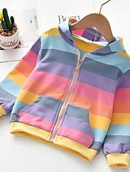 cheap -Kids Girls' Basic Striped Long Sleeve Blouse Light Blue