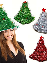 cheap -Tinsel Christmas Tree 1-Piece Hat Headband Father Christmas Christmas Party