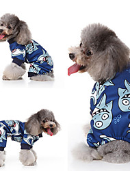 cheap -Dog Cat Vest Christmas Christmas Dog Clothes Blue Costume Polyester Canvas Mixed Material S M L XL
