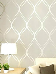 cheap -Wallpaper Nonwoven Wall Covering - Adhesive Required Striped  1000*53 cm