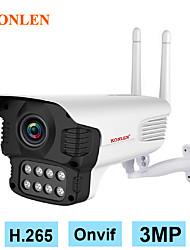 cheap -KONLEN Outdoor 3MP WIFI IP Camera H.265 Onvif Dual Light Bullet Camera Yoosee Starlight Night CCTV Security Video surveillance