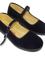 cheap -Women's Flats Flat Heel Round Toe Suede Fall & Winter Black