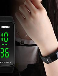 cheap -SKMEI Women's Ladies Sport Watch Wrist Watch Digital Watch Japanese Digital Quilted PU Leather Black / Blue / Red 30 m Water Resistant / Waterproof Calendar / date / day Luminous Digital Fashion -