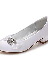 cheap -Girls' Mary Jane Satin Heels Little Kids(4-7ys) / Big Kids(7years +) Rhinestone / Stitching Lace White / Purple / Champagne Spring / Party & Evening