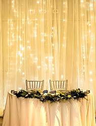 cheap -1pcs 3*2m LED Curtain String Lights 240LEDS Christmas Fairy Lights Garland Home Decorative Lights for Wedding/Party/Garden Decoration