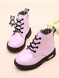 halpa -Tyttöjen Comfort PU Bootsit Pikkulapset (4-7 vuotta) Musta / Fuksia / Pinkki Talvi / Nilkkurit
