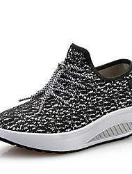 cheap -Women's Athletic Shoes Creepers Round Toe Knit Sporty / Casual Running Shoes / Swing Shoes Spring &  Fall / Spring & Summer Black / Dark Grey / White