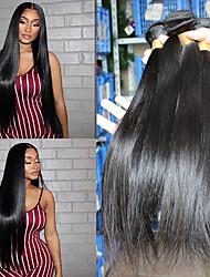 cheap -3 Bundles Hair Weaves Brazilian Hair Natural Straight Human Hair Extensions Human Hair 300 g Natural Color Hair Weaves / Hair Bulk Weave 10-24 Inch Natural Natural Hot Sale Fashion