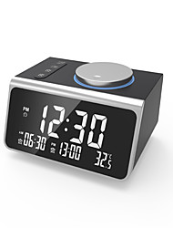 cheap -Digital Alarm Clock, with FM Radio, Dual USB Charging Ports, Temperature Detect, Dual Alarms, Snooze, 5-Level Brightness Dimmer, Batteries Operated, for Bedroom, Small Sleep Timer