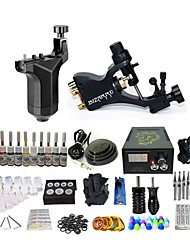 cheap -BaseKey Tattoo Machine Starter Kit - 2 pcs Tattoo Machines with 10 x 5 ml tattoo inks, Professional LED power supply Case Not Included 19 W Rotary Tattoo Machine