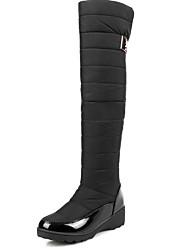 cheap -Women's Boots Flat Heel Round Toe Suede Knee High Boots Fall & Winter Black / Blue