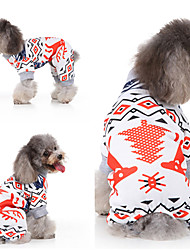 cheap -Dog Cat Vest Christmas Christmas Dog Clothes White Costume Polyester Canvas Mixed Material S M L XL