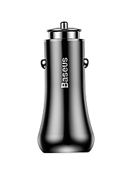 cheap -Baseus Gentry Series Dual-U Quick -charge Car Charger Black