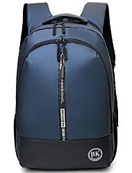 halpa -Suuri tilavuus Oxford Vetoketjuilla Backpack Päivittäin Musta / Uima-allas / Harmaa
