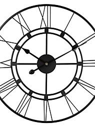 Недорогие -круглые декоративные металлические проблемные железные римские цифры часы кварцевый механизм