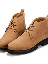 cheap -Men's Suede Shoes Suede Fall & Winter Boots Booties / Ankle Boots Black / Brown